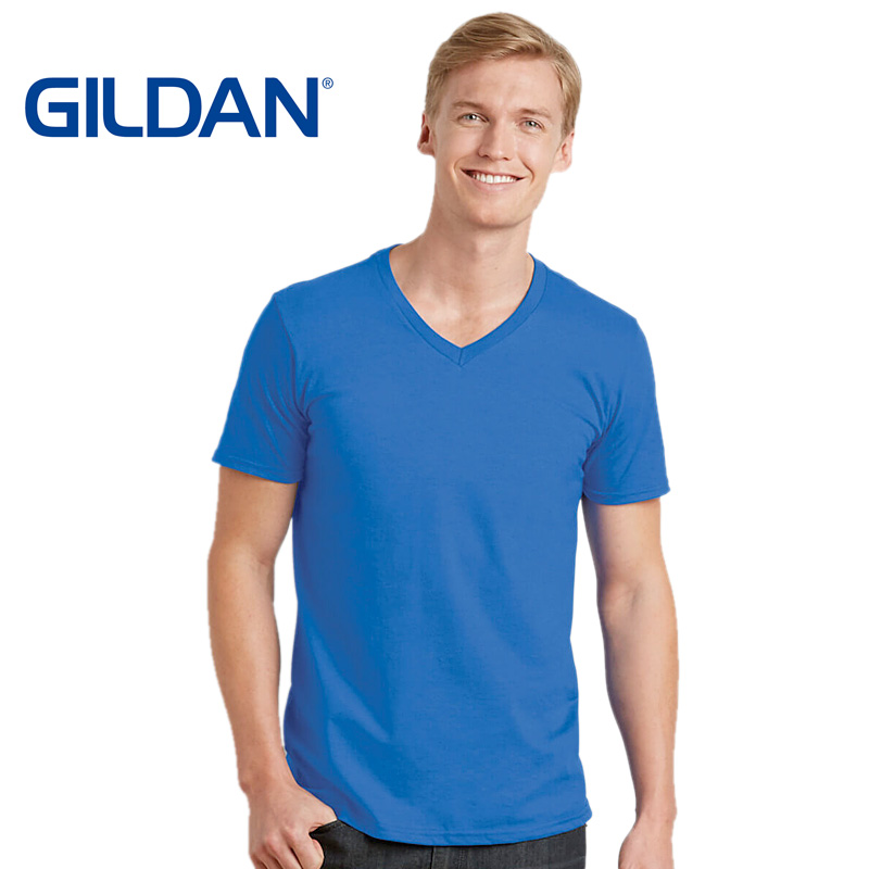 GILDAN mens soft style v-neck