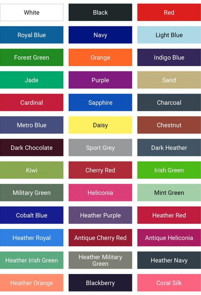 GILDAN mens soft style v-neck colour palette
