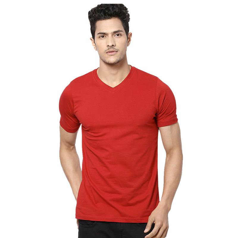GILDAN mens soft style v-neck red
