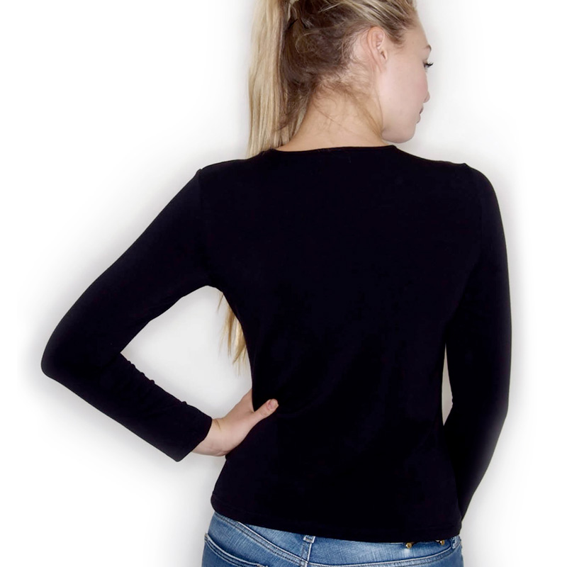 Lady fit long sleeve black