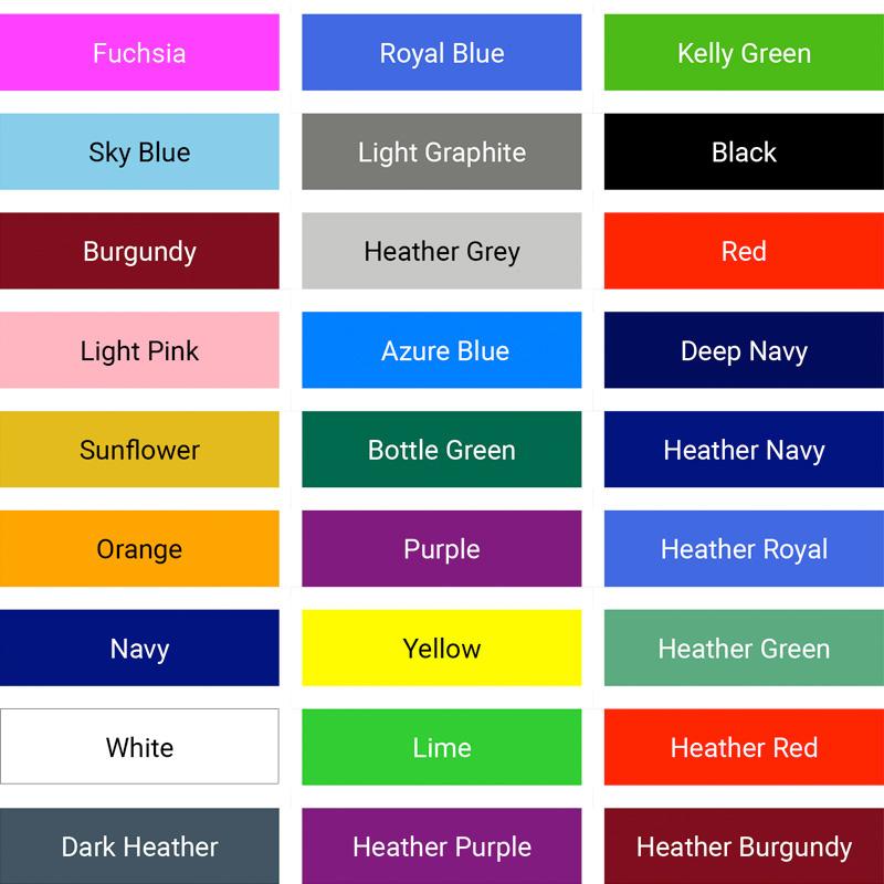 Lady fit value weight colours