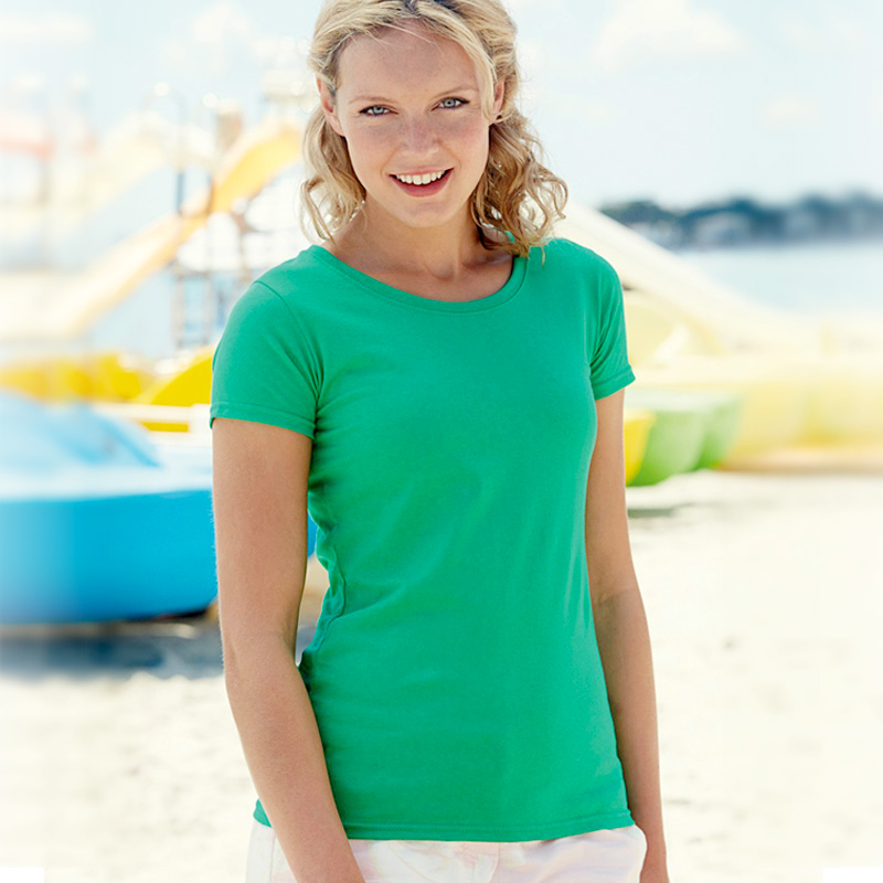 Lady fit value weight heather green