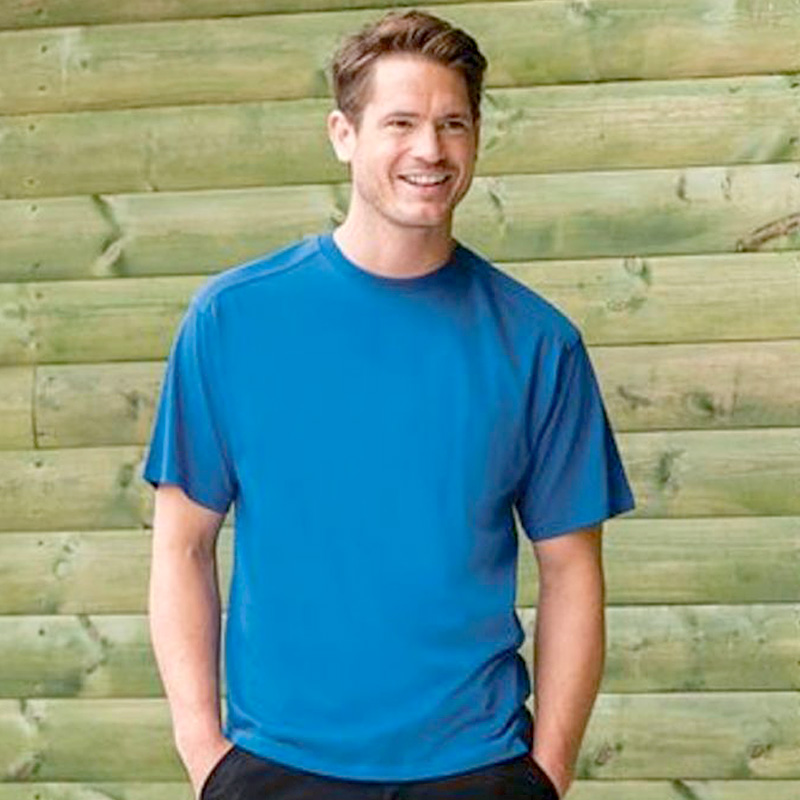 Mens heavy duty bright blue