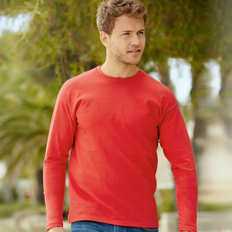 Mens long sleeve red