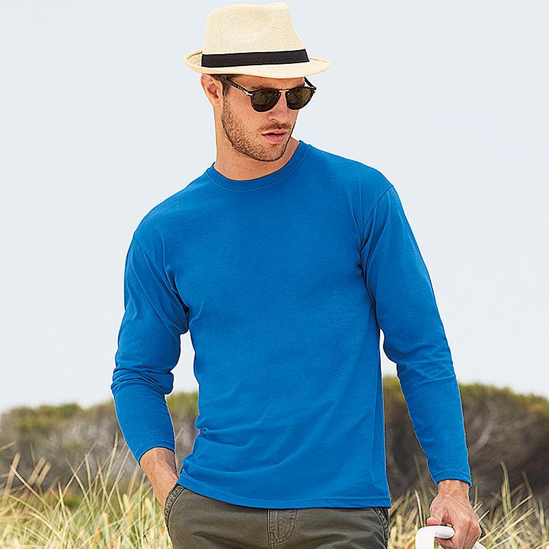 Mens long sleeve royal blue