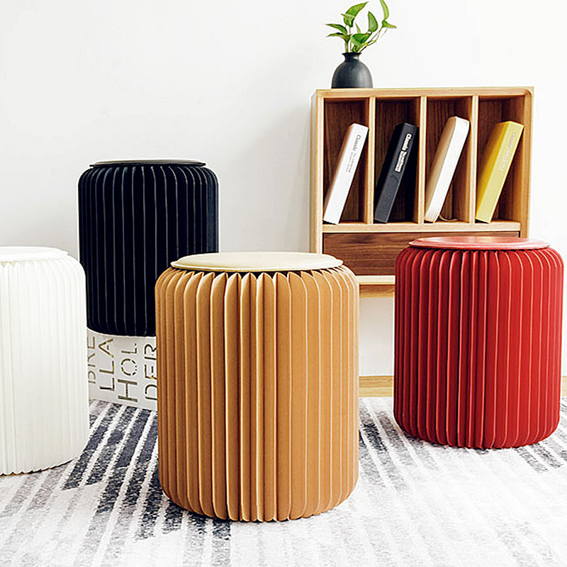 Pleated paper stool colours