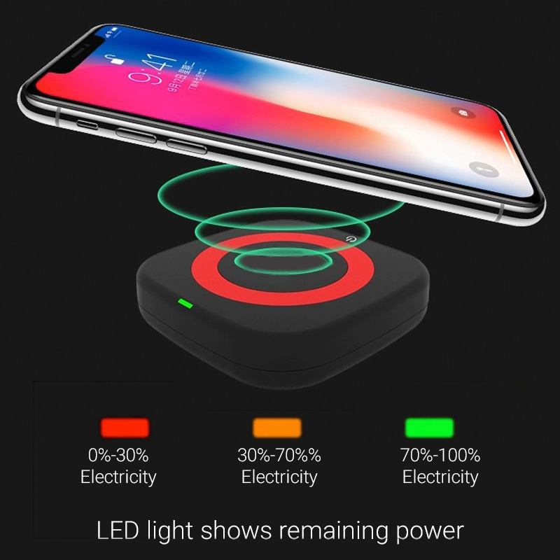 Qi wireless charger LED power indicator