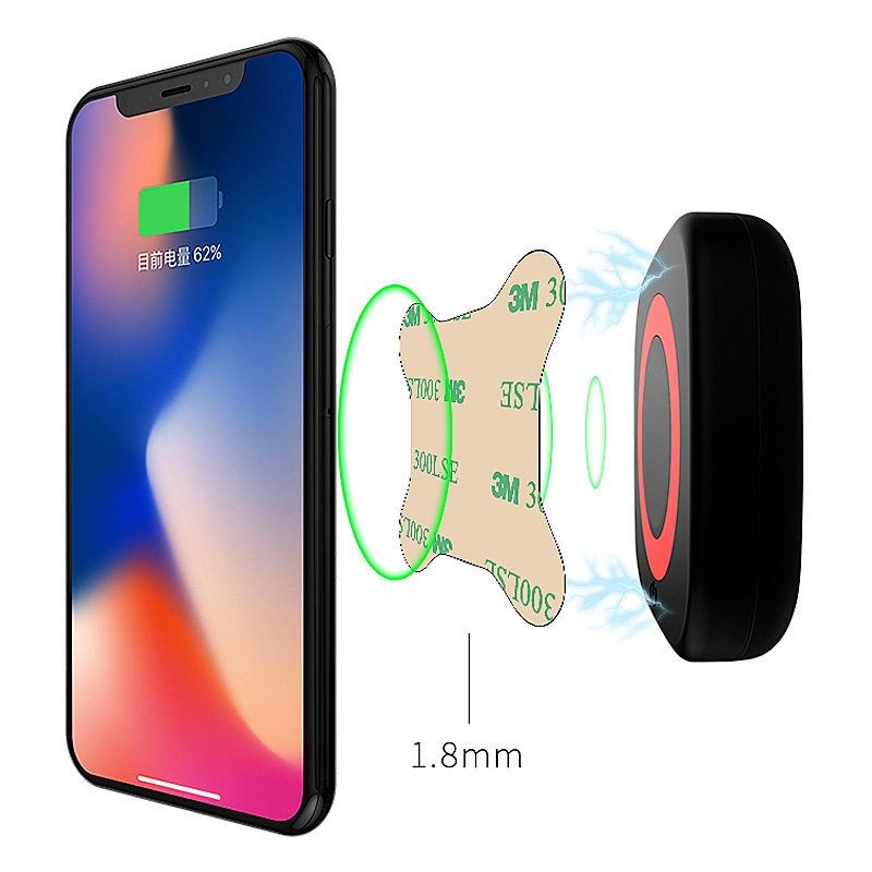 Qi wireless charger adhesive sheet