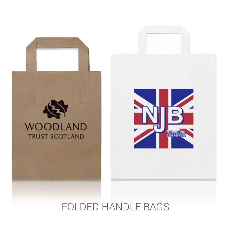 Folded handle bags