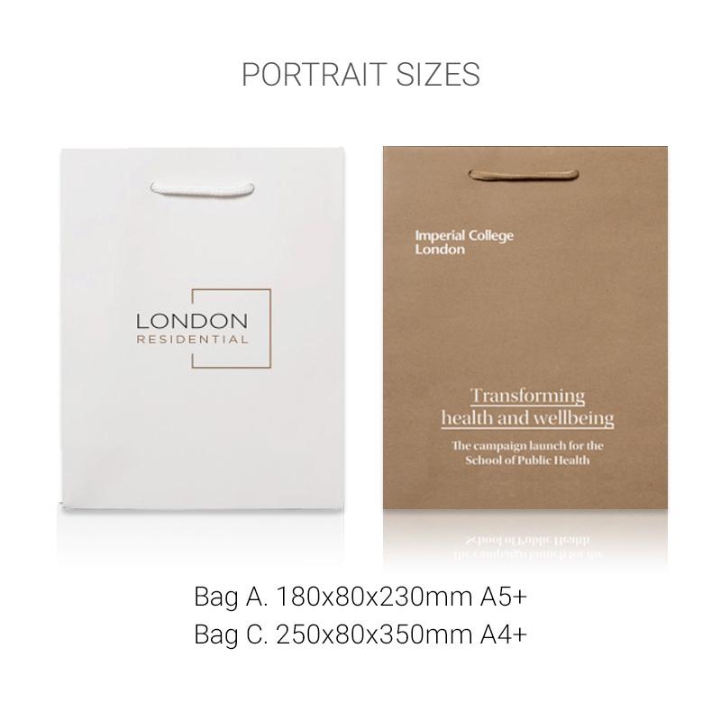 Kraft uncoated bags portrait