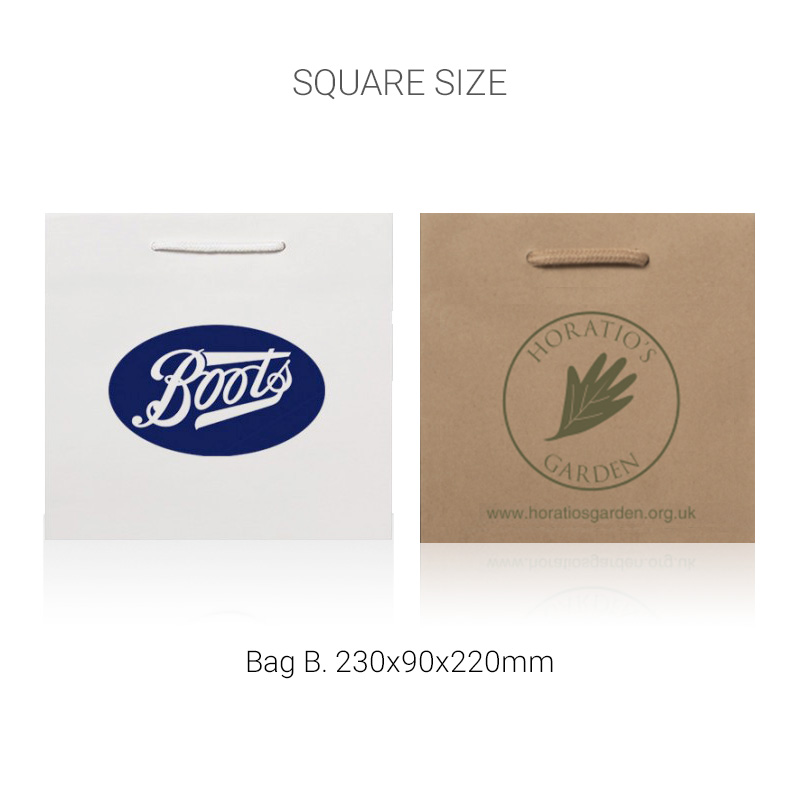 Kraft uncoated bags square