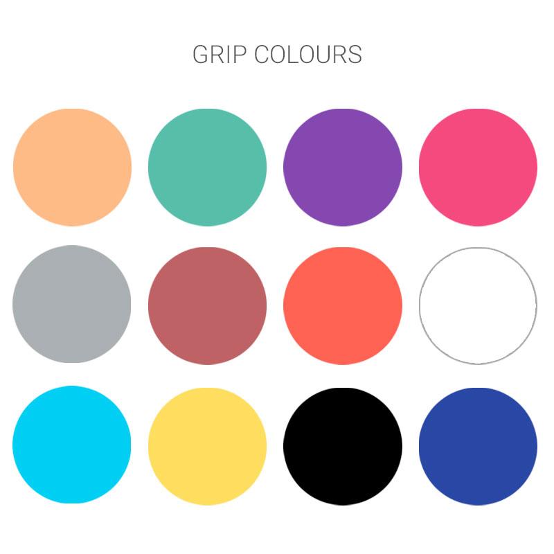 Pop-up grip colours