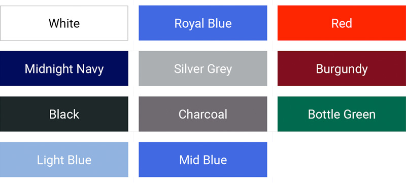 KUSTOM Oxford short sleeve mens colour palette