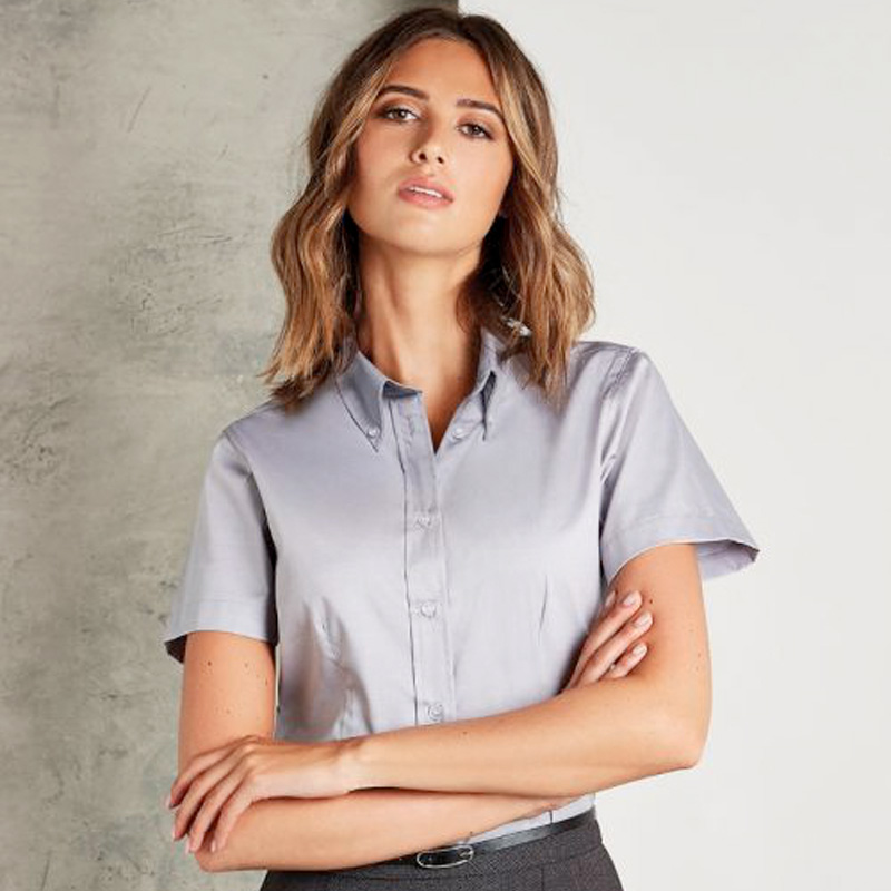 KUSTOM Oxford short sleeve silver grey