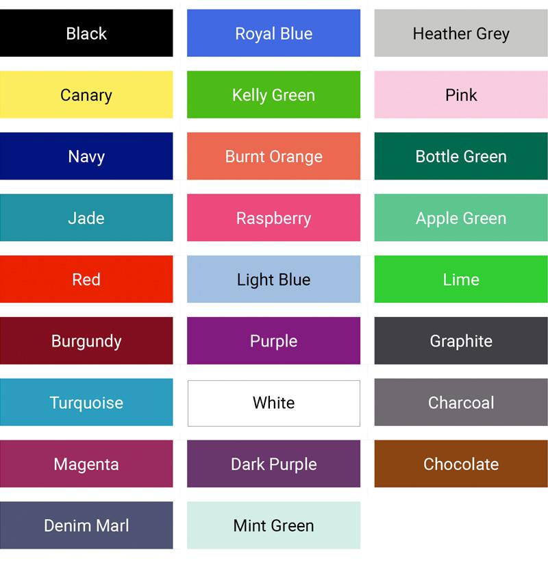 Kustom Kit Klassic f&m colour palette mens