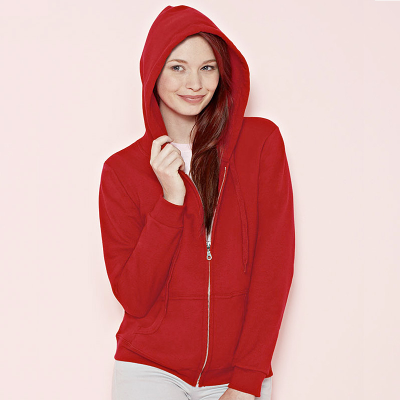 LOOM Fullzip hood red