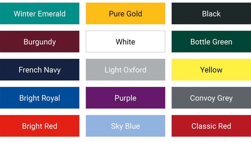 Russell- classic f&m colour palette mens