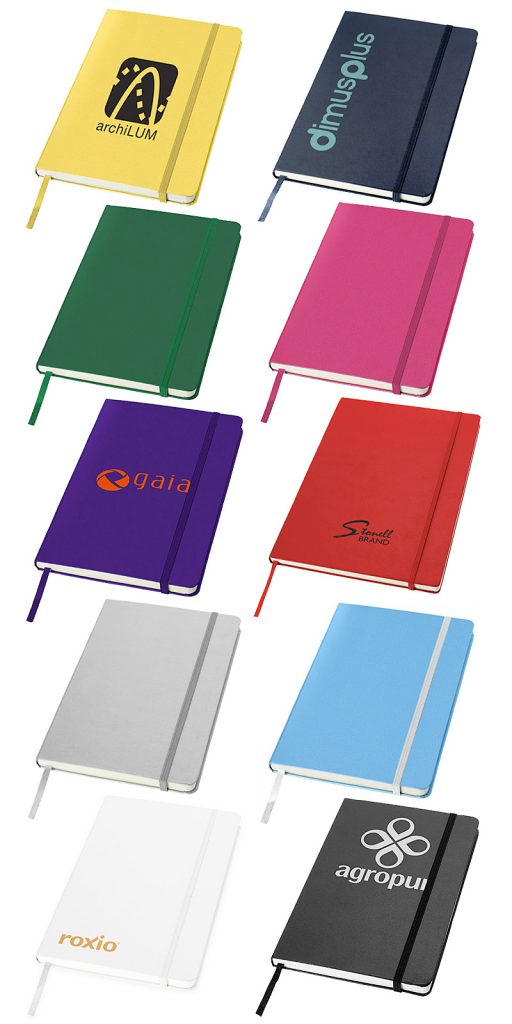 JBA5 hardcover colours and branding examples