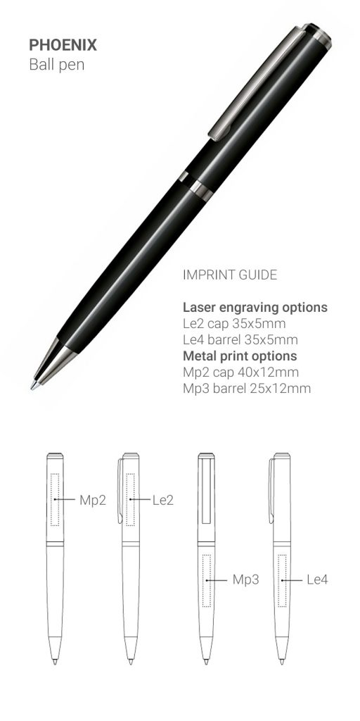 Chic Phoenix ball pen